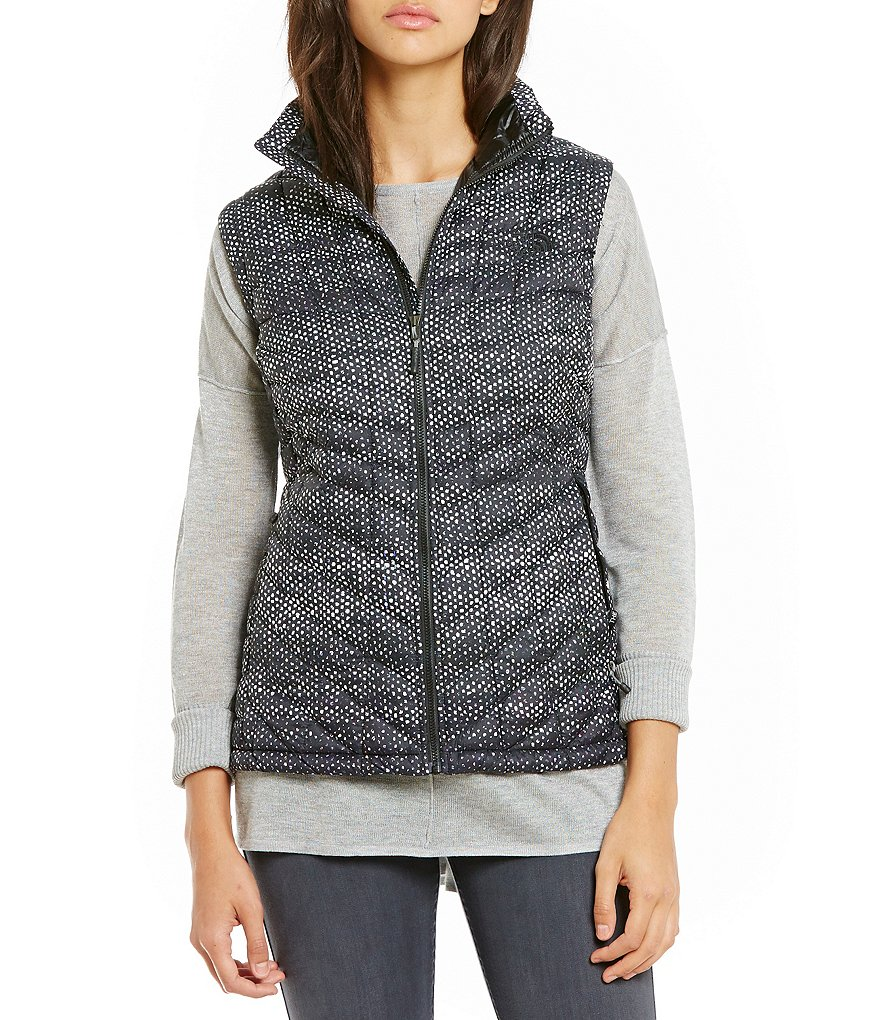 The North Face PrimaLoft® ThermoBall™ Mock Neck Front Zip Printed Vest