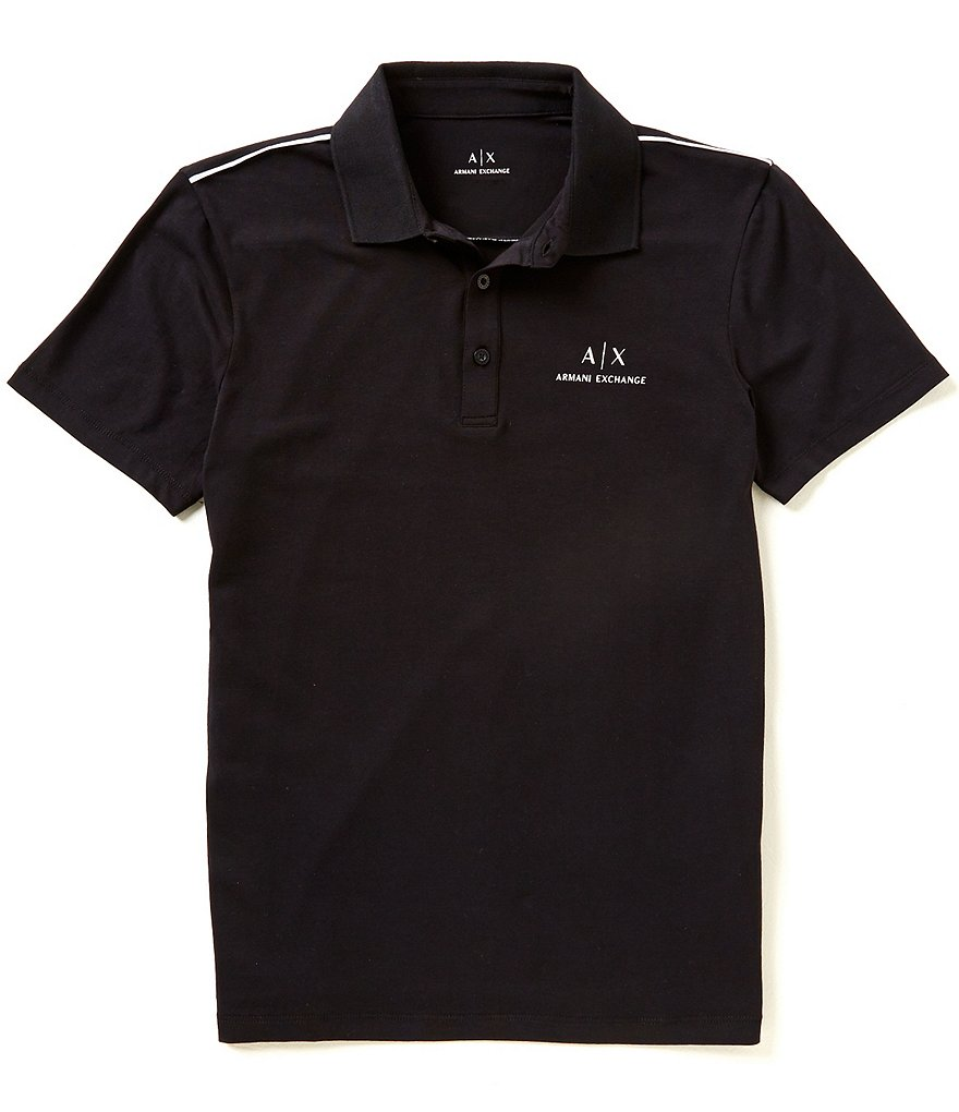 Armani Exchange Jersey Short-Sleeve Polo Shirt