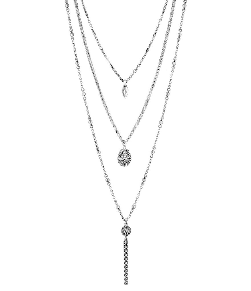 Lucky Brand Teardrop Convertible Multi-Strand Necklace