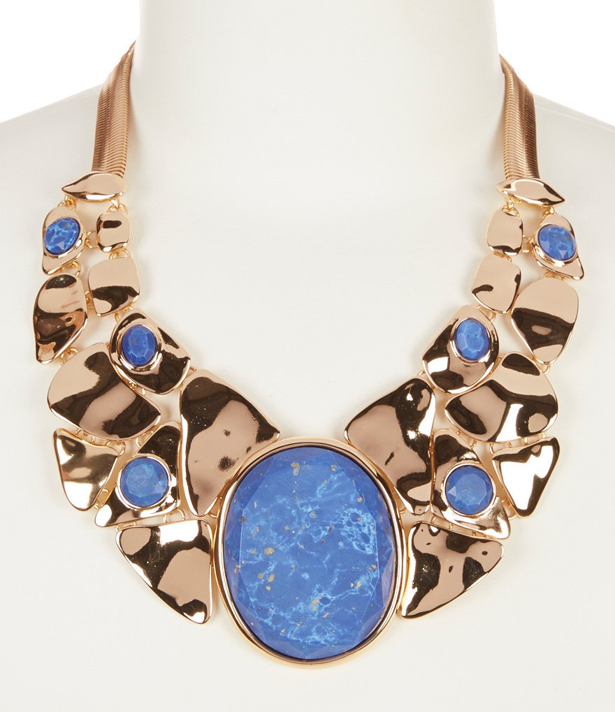 Kennedy Row Mosaic Turquoise Statement Necklace