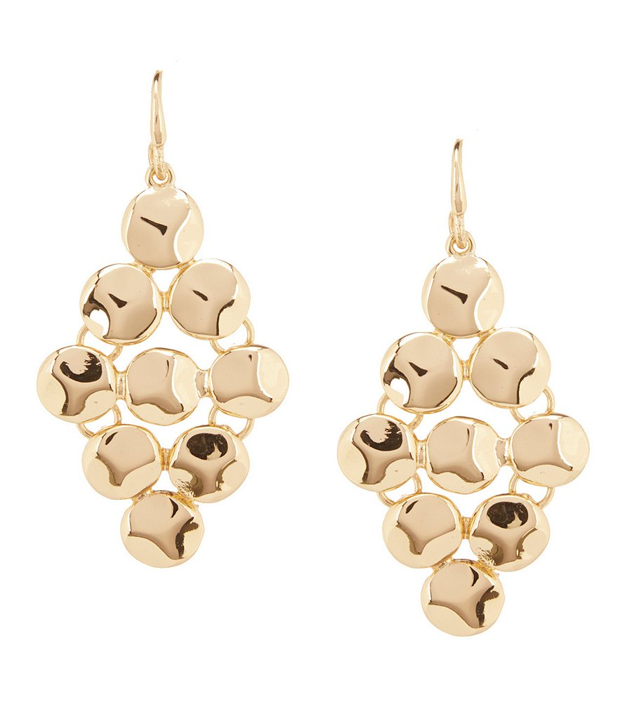Kennedy Row Shaky Sculptural Disc Chandelier Earrings