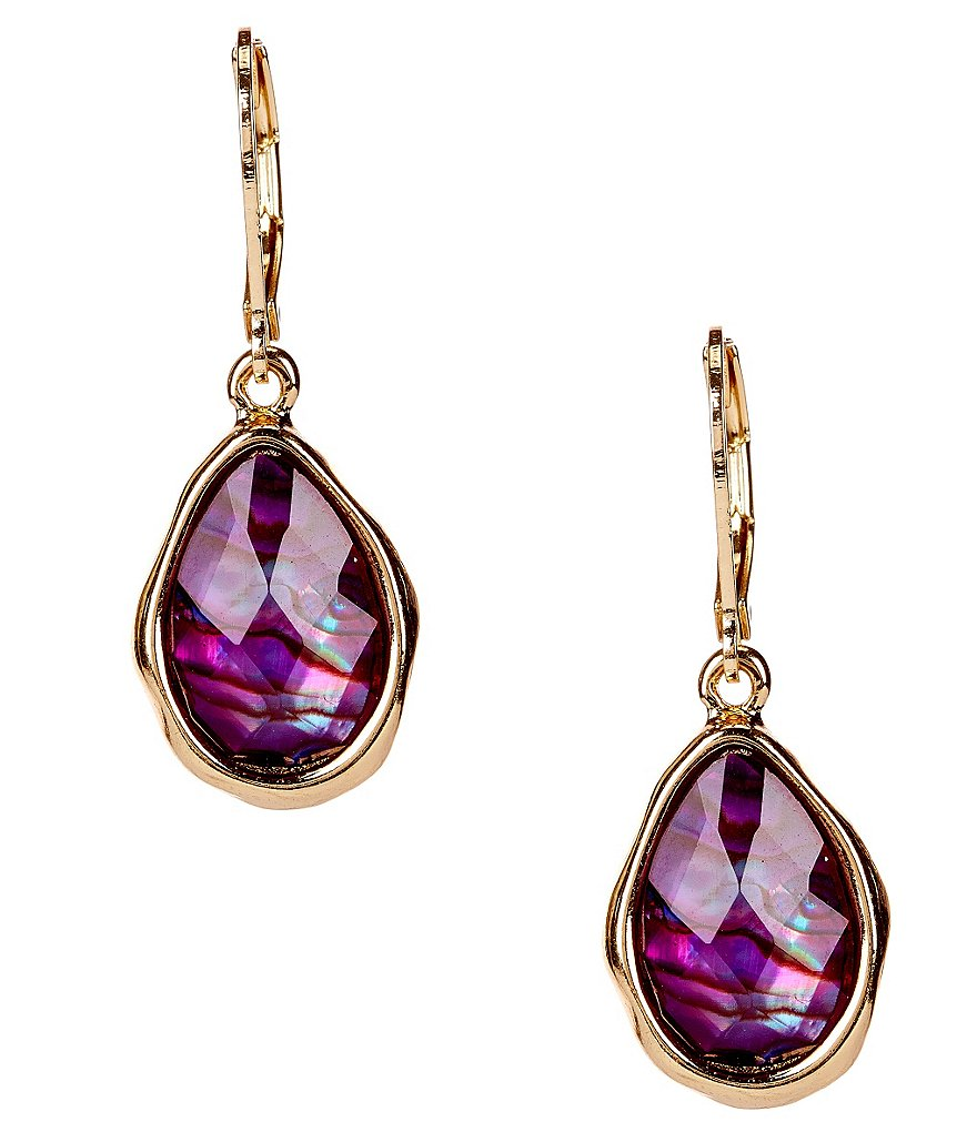 Dillard´s Tailored Leverback Teardrop Earrings