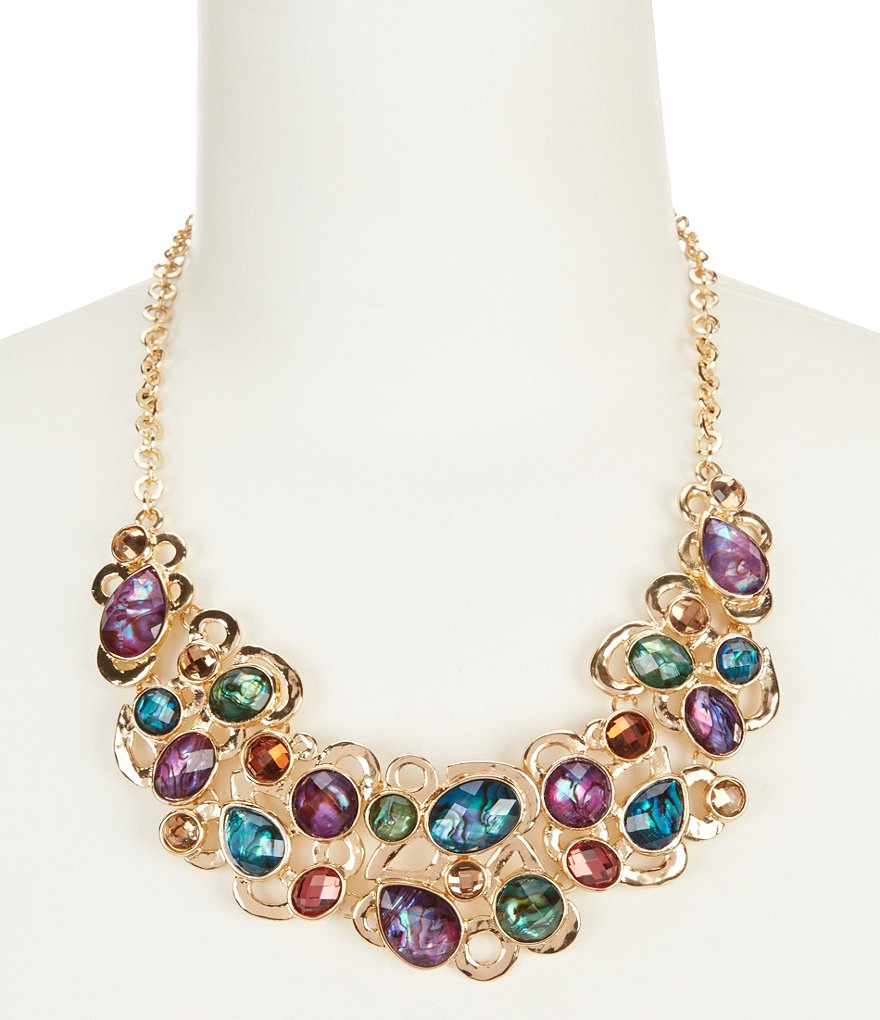 Dillard´s Tailored Multi Stone Collar Necklace