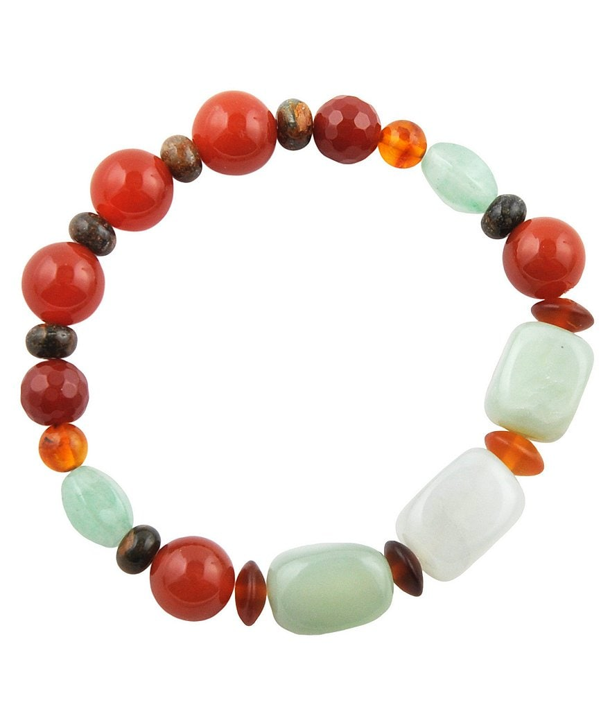 Barse Genuine Stone Stretch Bracelet