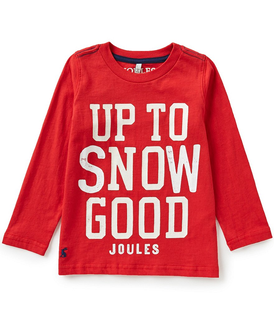 Joules Little Boys 3-6 Raymond Snow Good Glow-in-the-Dark Top