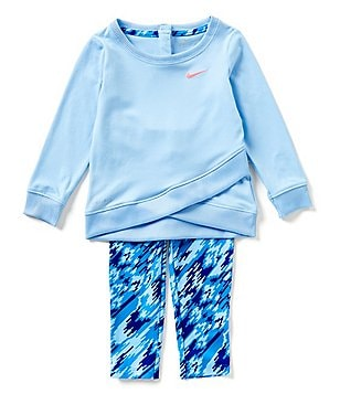 Nike Baby Girls 12-24 Months Sports Essentials Solid Tunic & Printed Leggings Set