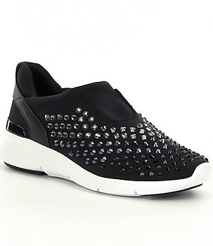 MICHAEL Michael Kors Ace Stone Embellished Slip On Sneakers
