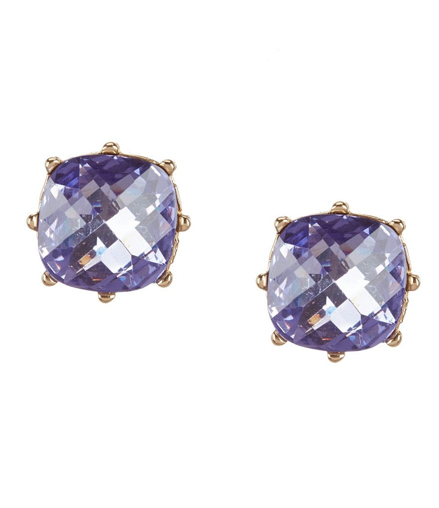Anne Klein Amy Square Stud Earrings