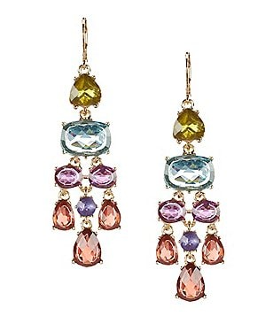 Anne Klein Multi-Stone Chandelier Statement Earrings