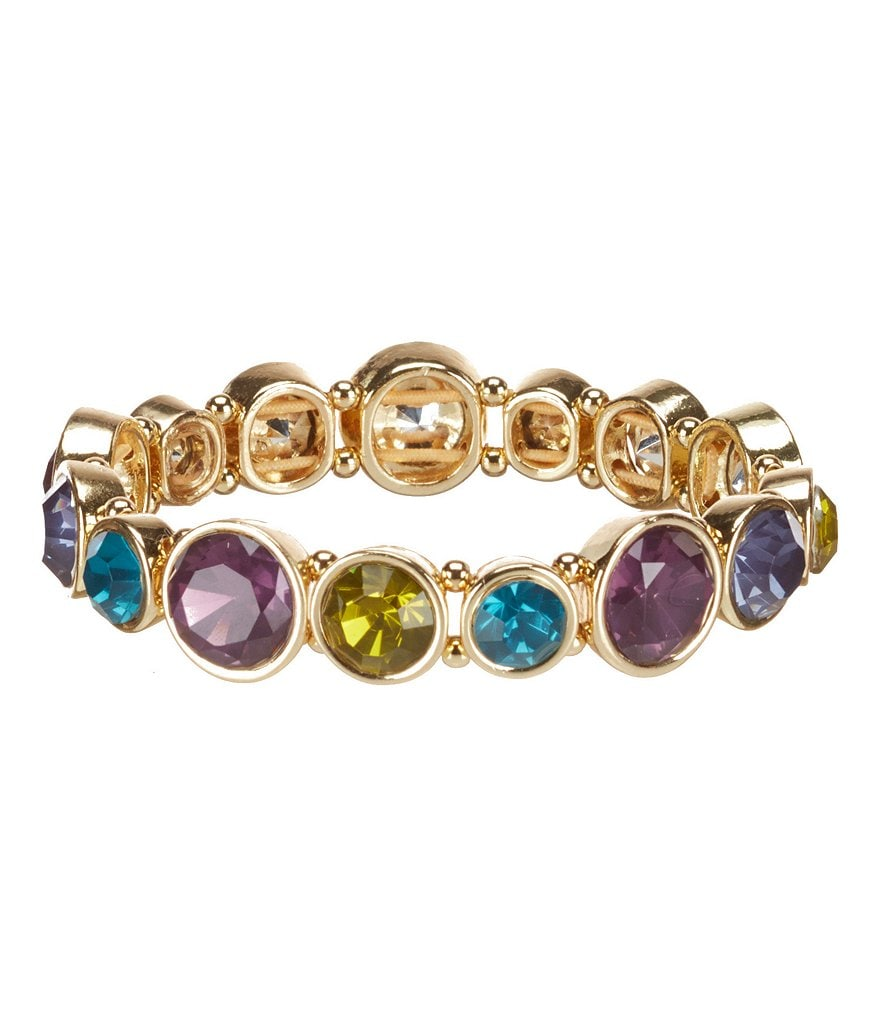 Anne Klein Multi-Stone Stretch Bracelet