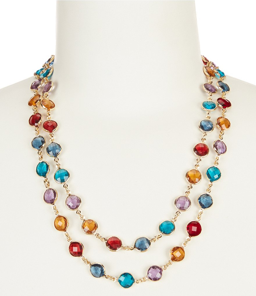 Anne Klein Multi-Stone Wrap Necklace