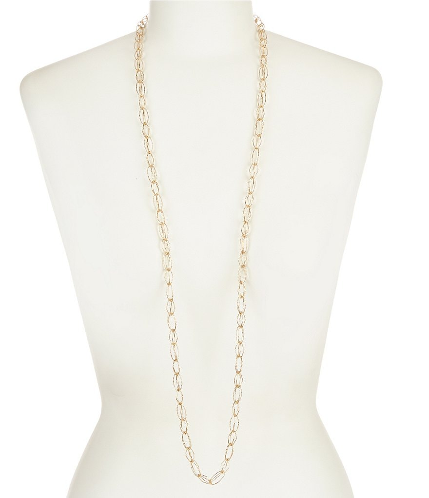 Anne Klein Open Link Long Strand Necklace