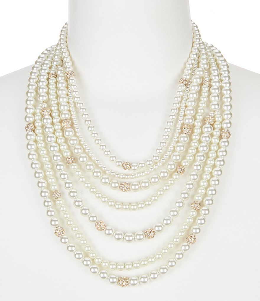 Gemma Layne Pearl Multi-Strand Necklace