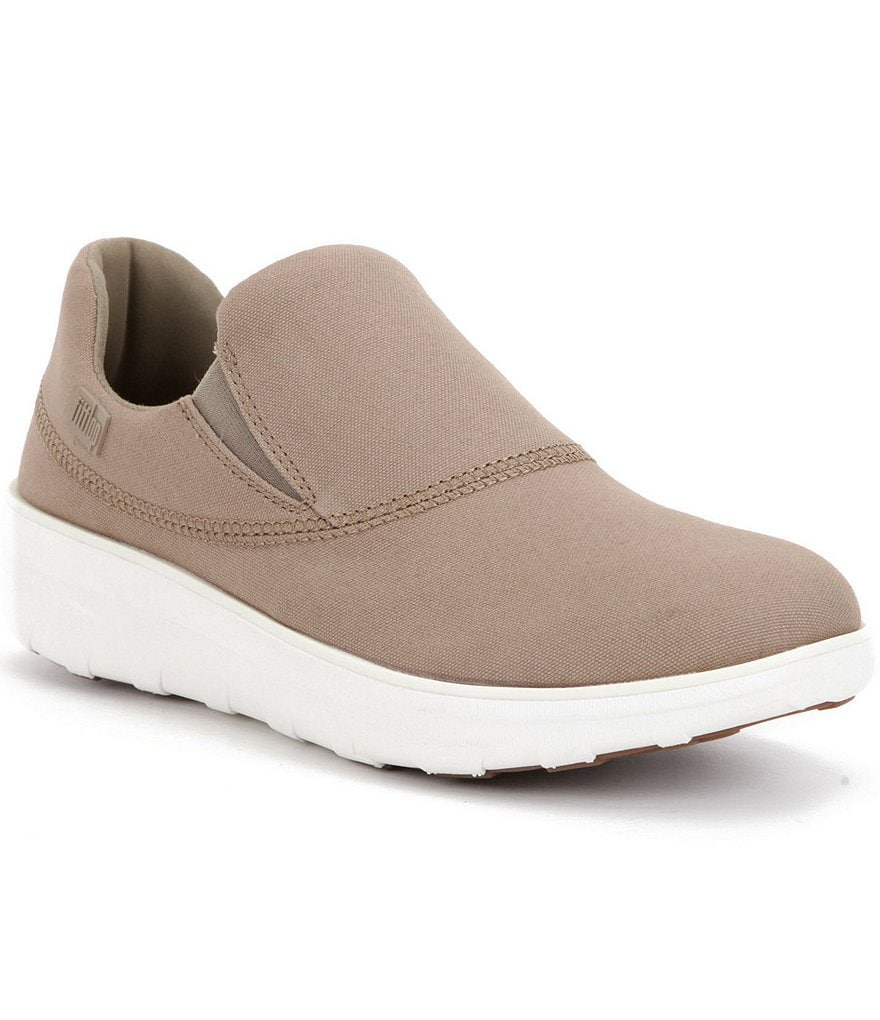 Fitflop Ltd. Loaff Sporty Canvas Elastic Sides Slip-On Sneakers