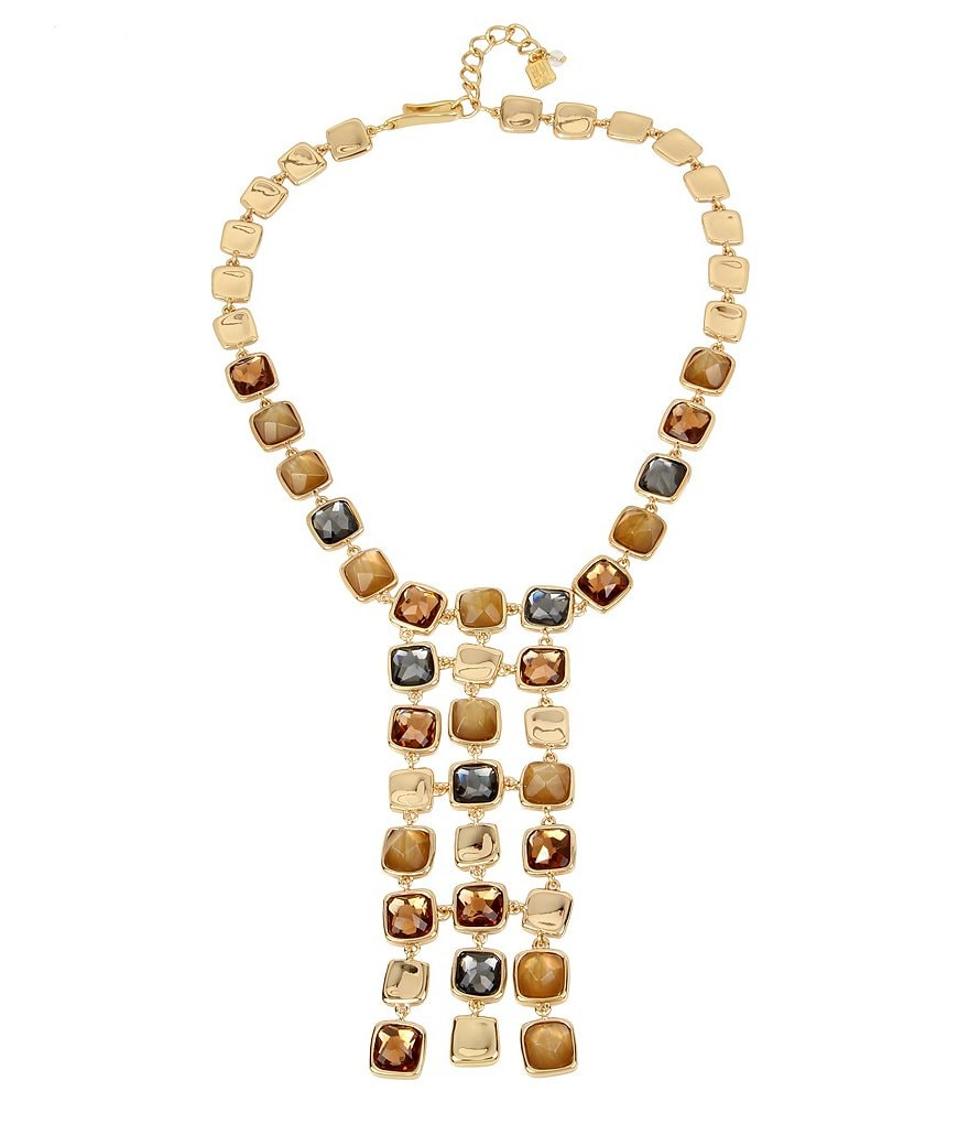 Robert Lee Morris Soho Faceted Stone Frontal Necklace