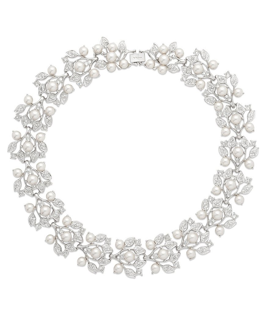 Nina Crystal & Faux-Pearl Statement Necklace