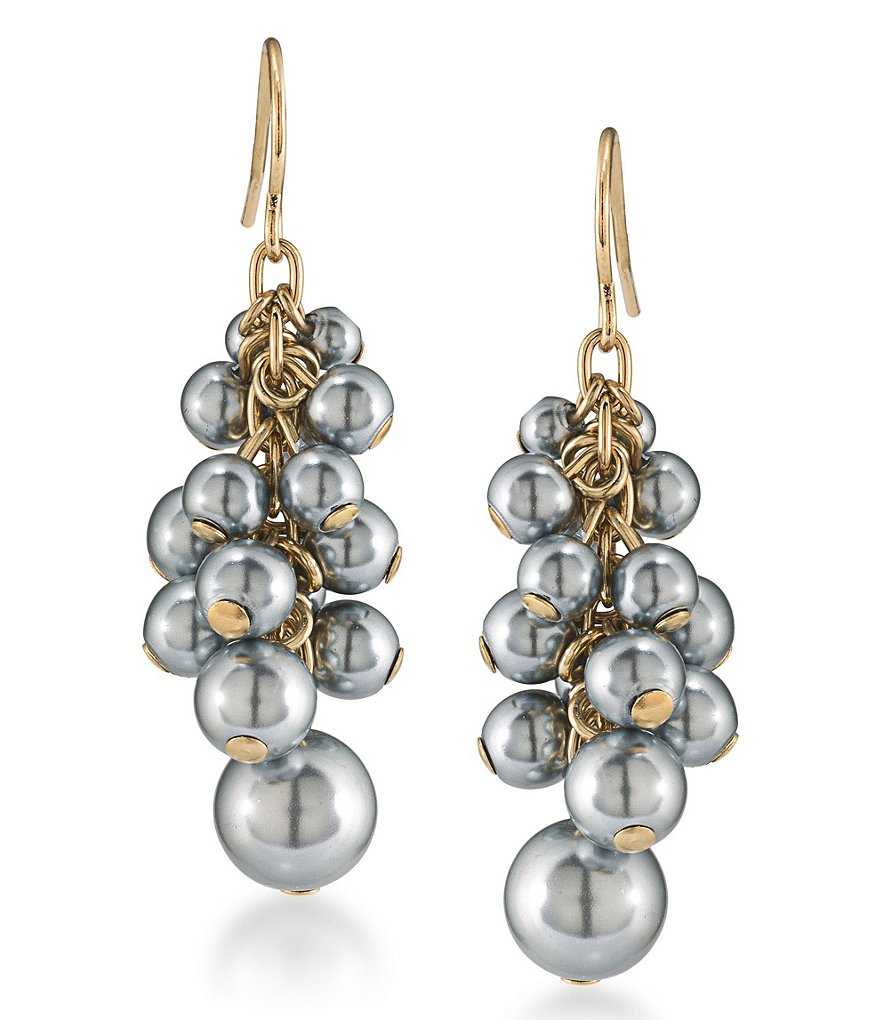 Carolee West Side Cluster Drop Earrings