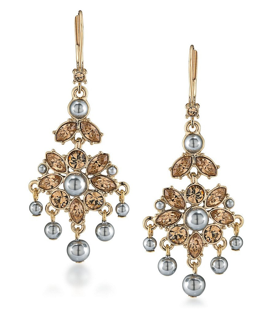 Carolee West Side Mini Chandelier Statement Earrings
