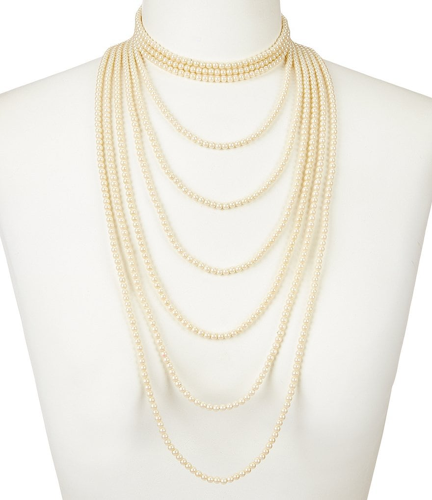 Carolee Soho House Faux-Pearl Multi-Strand Statement Necklace