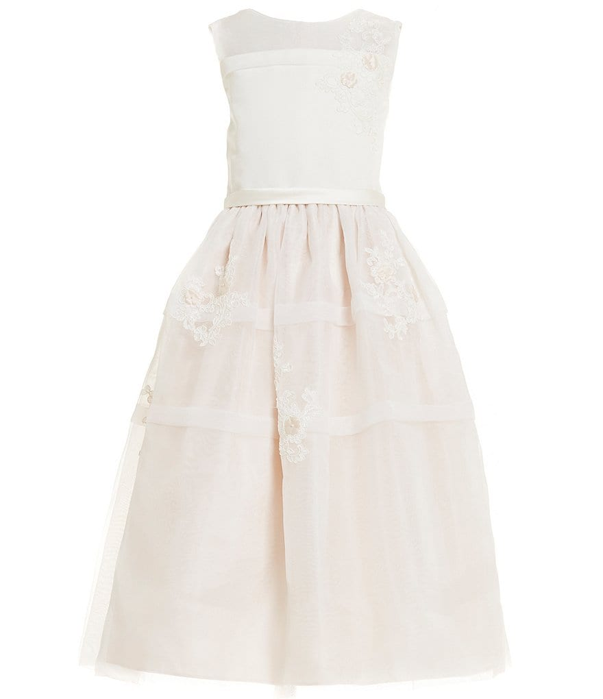Joan Calabrese Little Girls 2T-6X Floral-Embroidered Dress
