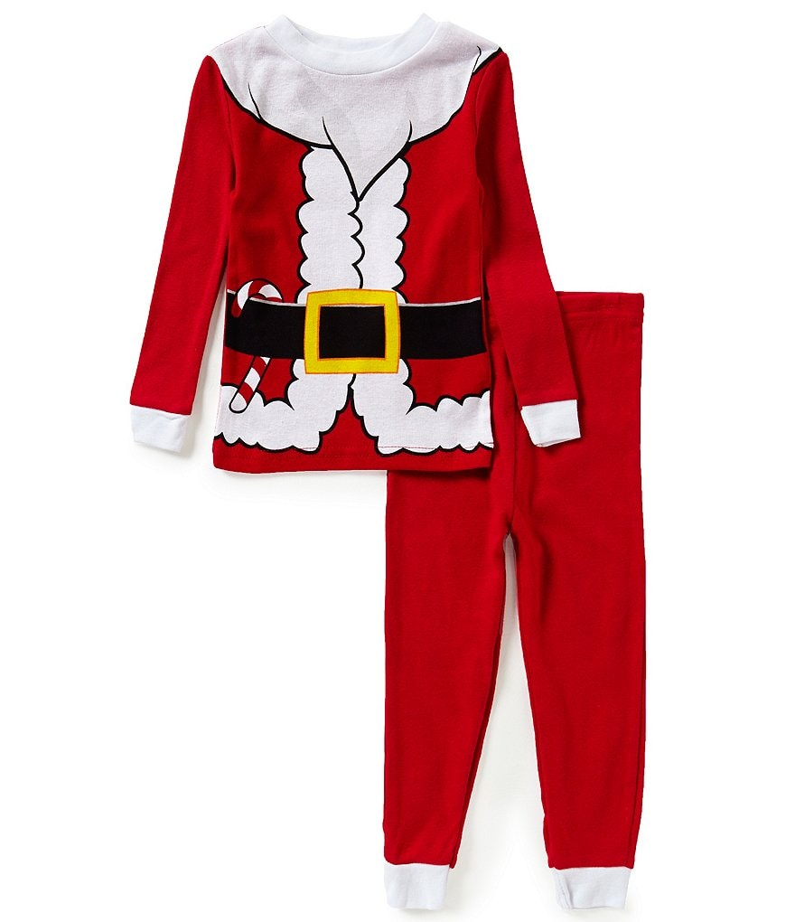 Komar Kids Little Boys 2T-4T Christmas Santa Claus Pajama Top & Pant Set