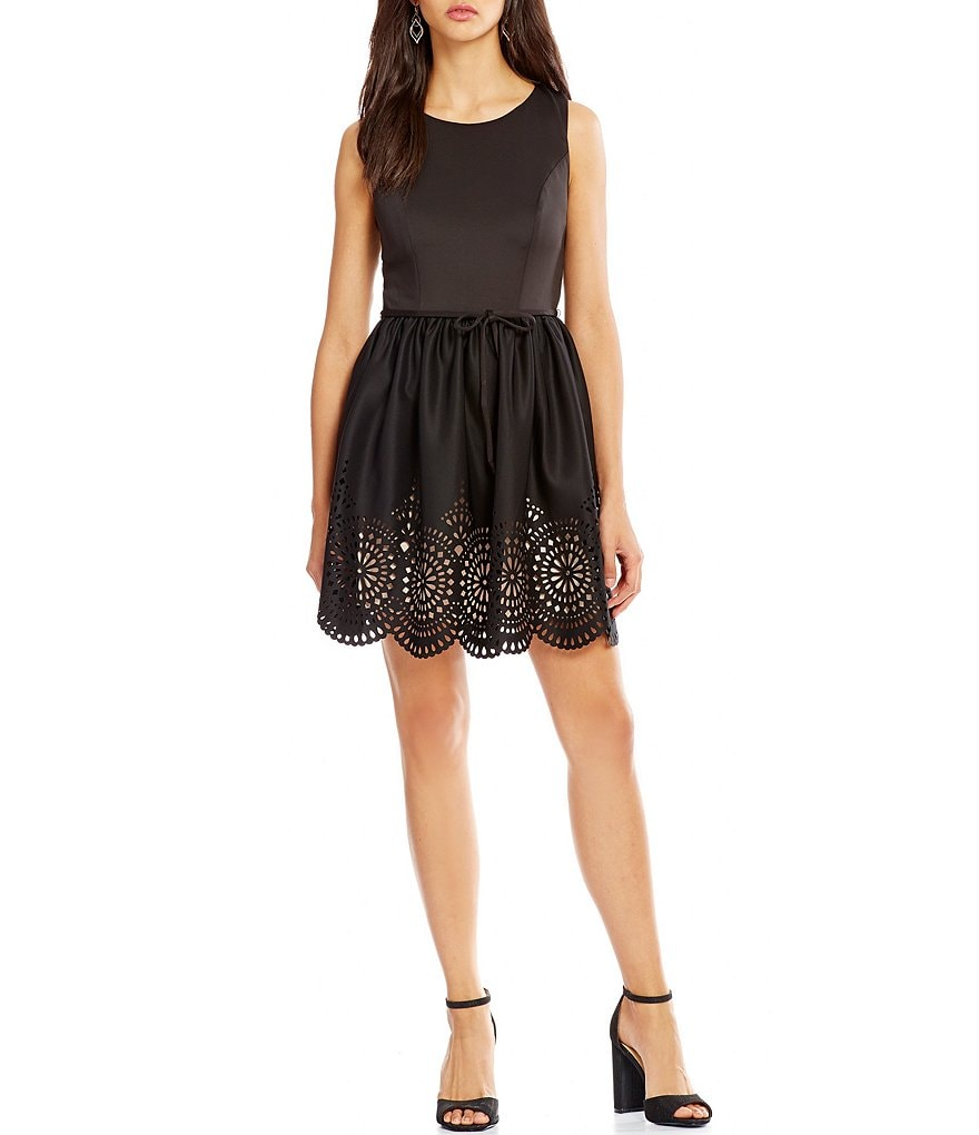 Honey and Rosie Laser-Cut-Hem Dress