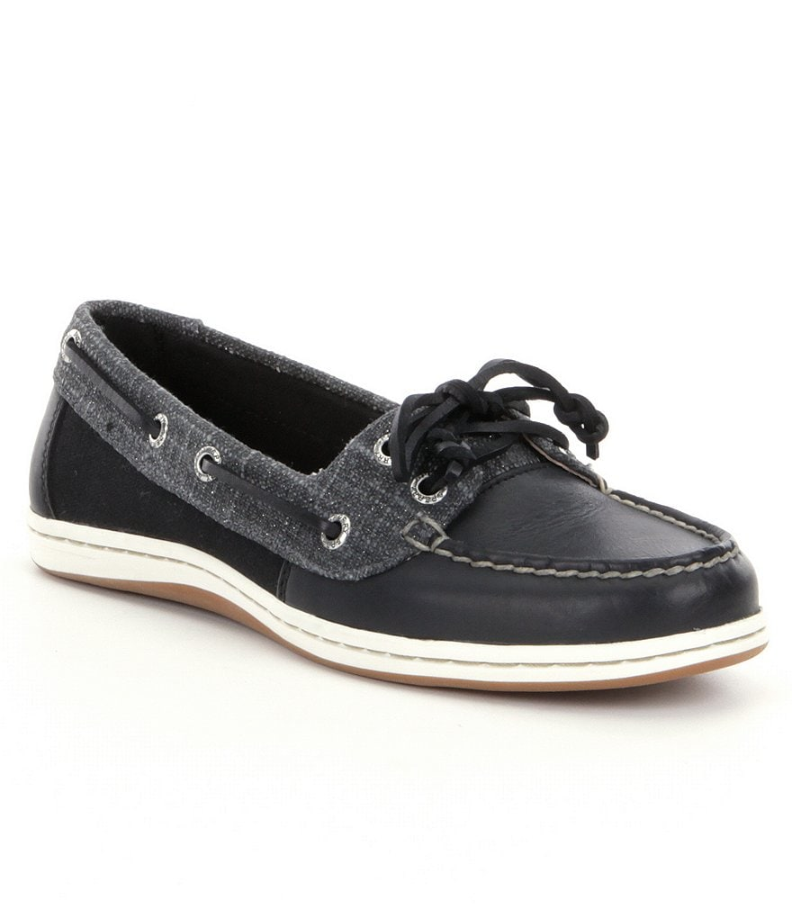 Sperry Firefish Metallic Sparkle Boat Shoes