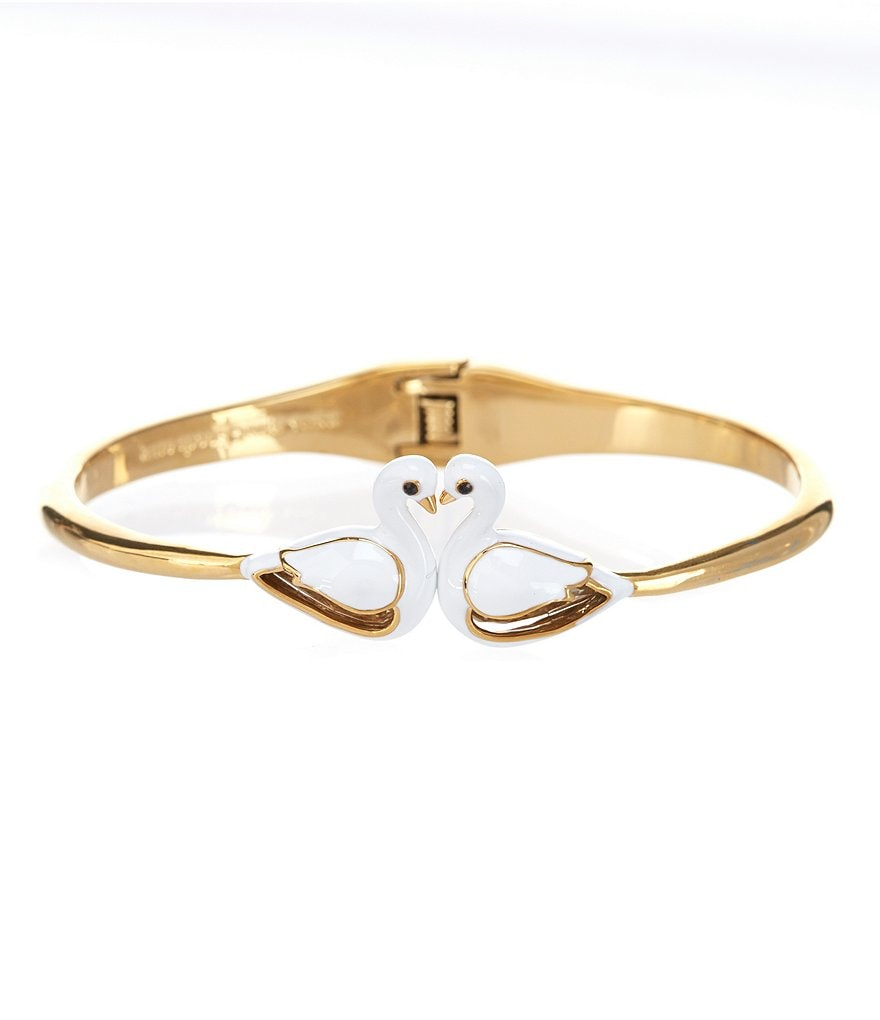 kate spade new york On Pointe Swan Hinge Bangle Bracelet