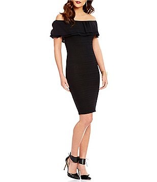 Lucy Paris Off-the-Shoulder Bodycon Dress