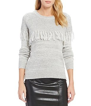Lucy Paris Grace Fringe Knit Sweater