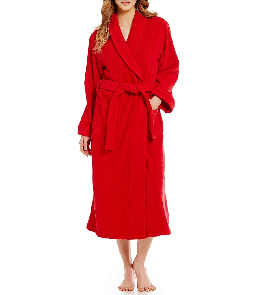 Cabernet Micro Terry Wrap Robe
