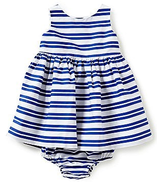 Ralph Lauren Childrenswear Baby Girls 3-24 Months Bengal-Stripe Fit-and-Flare Dress