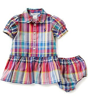 Ralph Lauren Childrenswear Baby Girls 3-24 Months Plaid Shirt Dress