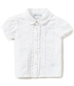 Ralph Lauren Childrenswear Baby Girls 3-24 Months Ruffled Pintucked Top