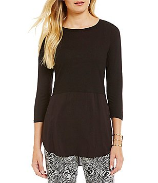 TWO by Vince Camuto Mixed-Media Tunic