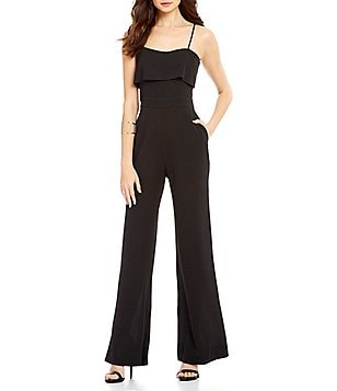 WAYF Stateline Open Neck Sleeveless Full Length Solid Jumpsuit