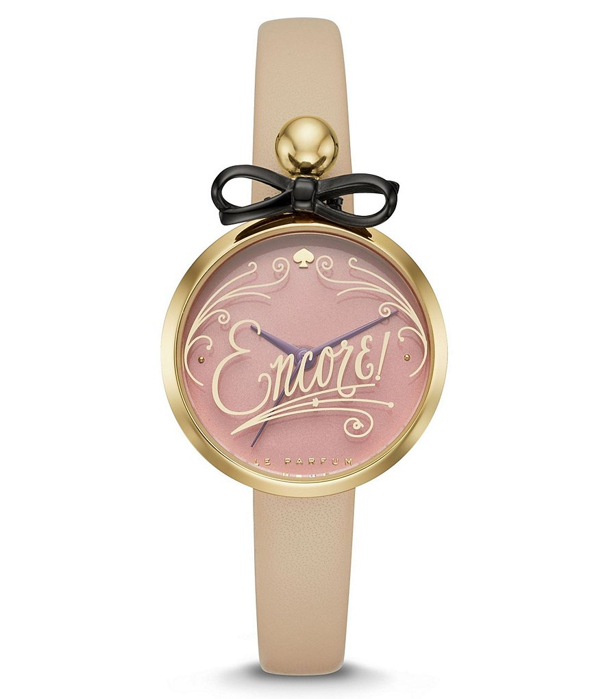 kate spade new york Parfum Bottle Leather-Strap Watch