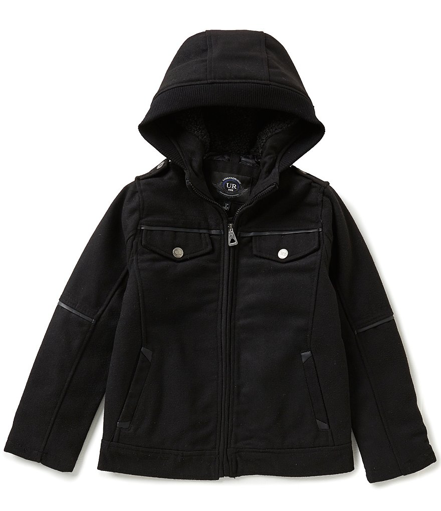 Urban Republic Big Boys 8-20 Wool Officer Hooded Jacket