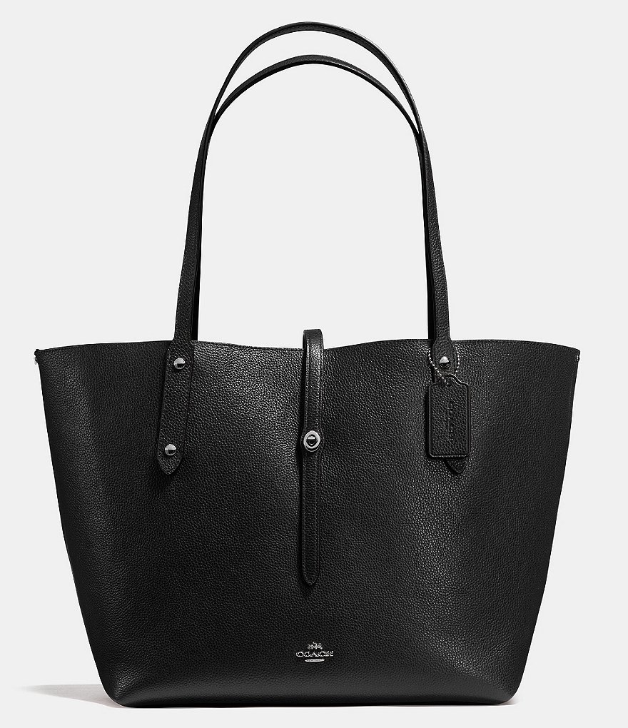 COACH MARKET TOTE IN LEATHER