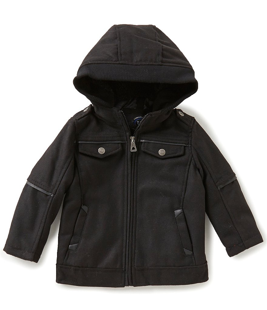 Urban Republic Little Boys 2T-7 Wool Officer Hooded Jacket