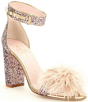 kate spade new york Ilona Glitter Pom-Pom Dress Sandals
