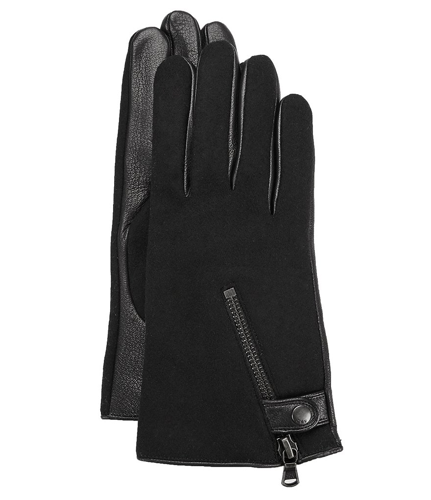 John Varvatos Star USA Zip Gloves