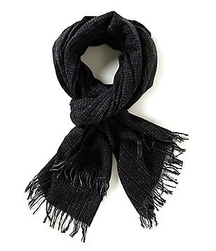 John Varvatos Star USA Ticking Stripe Cashmere Scarf