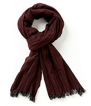 John Varvatos Star USA Herringbone Merino Wool Scarf