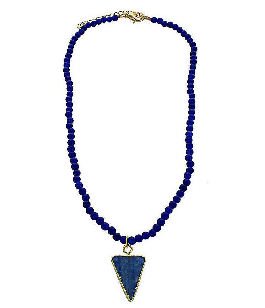 Panacea Agate & Kyanite Pendant Choker Necklace