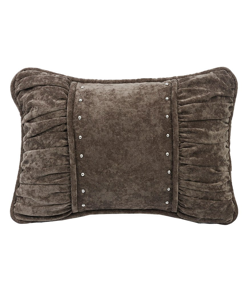 HiEnd Accents Silverado Studded Shirred Chenille Breakfast Pillow