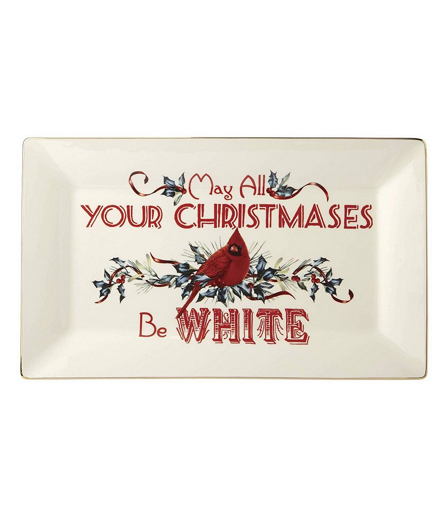 Lenox Winter Greetings May All Your Christmases Be White Tray