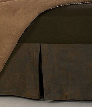 HiEnd Accents Rushmore Distressed Faux-Leather Bedskirt