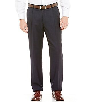 Hart Schaffner Marx Chicago Classic-Fit Pleated Tic Pattern Dress Pants