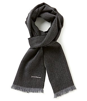 Hickey Freeman Herringbone Wool Scarf